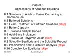 chapter 8 applications of aqueous equilibria