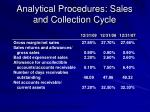 analytical procedures sales and collection cycle