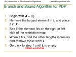 branch and bound algorithm for pdp1