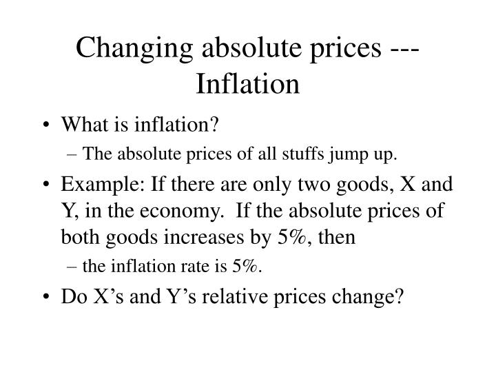 changing absolute prices inflation n.