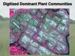 digitized dominant plant communities