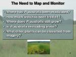 the need to map and monitor