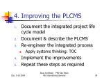 4 improving the plcms