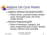 adaptive life cycle models