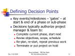 defining decision points