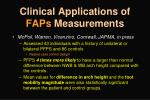clinical applications of faps measurements3