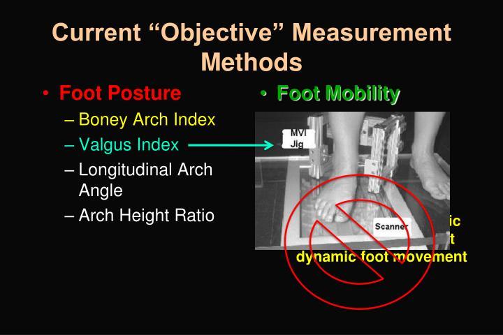 "Current ""Objective"" Measurement Methods"