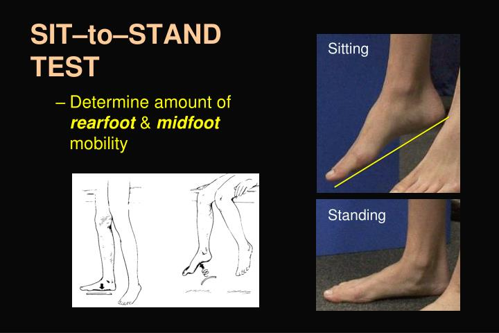 SIT–to–STAND TEST