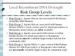 local recombinant dna oversight risk group levels