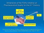 dimensions of the fda s initiative on pharmaceutical quality for the 21 st century