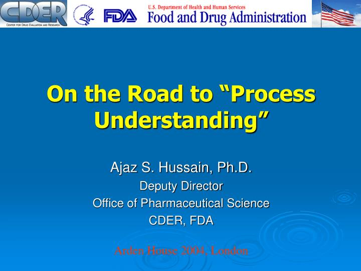 on the road to process understanding n.