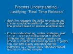 process understanding justifying real time release
