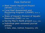 data gathered