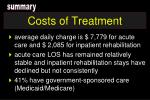 costs of treatment