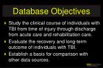 database objectives