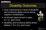 disability outcomes