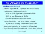 gm labelling and traceability