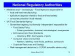 national regulatory authorities