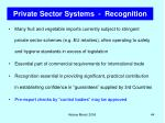 private sector systems recognition