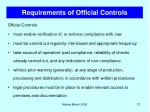 requirements of official controls