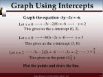 graph using intercepts18