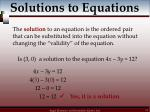 solutions to equations