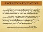 excerpt on education1