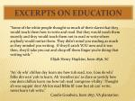 excerpts on education1