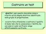 costruire un test