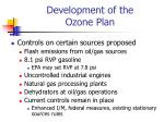 development of the ozone plan1