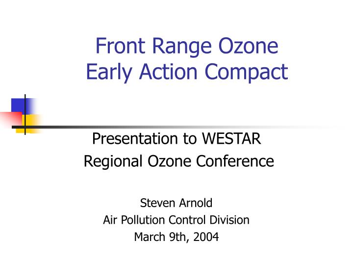 front range ozone early action compact n.