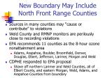 new boundary may include north front range counties