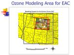ozone modeling area for eac