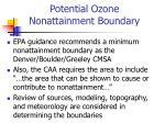 potential ozone nonattainment boundary