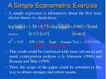 a simple econometric exercise