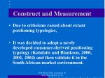 construct and measurement