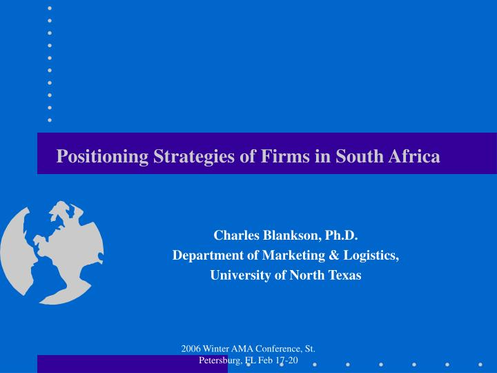 positioning strategies of firms in south africa n.
