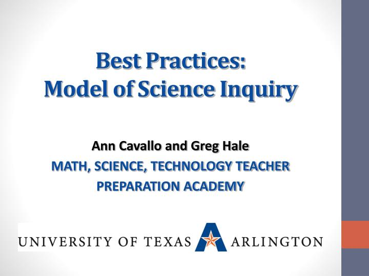 best practices model of science inquiry n.