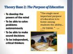 theory base 2 the purpose of education