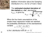 addition information about the sampling distribution of a bx for a fixed x value