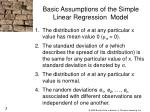 basic assumptions of the simple linear regression model