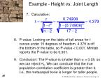 example height vs joint length3