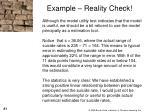 example reality check