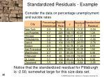 standardized residuals example