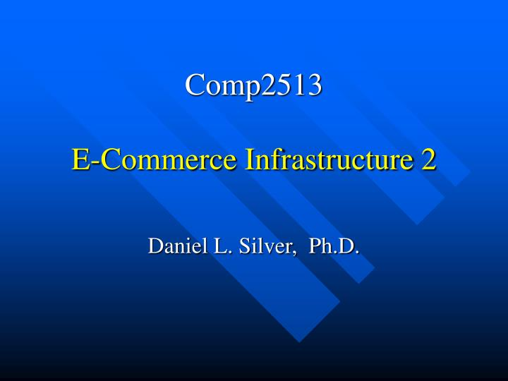 comp2513 e commerce infrastructure 2 n.