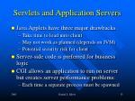 servlets and application servers
