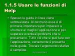 1 1 5 usare le funzioni di help