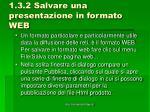 1 3 2 salvare una presentazione in formato web