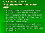 1 3 2 salvare una presentazione in formato web2