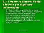 2 3 1 usare le funzioni copia e incolla per duplicare un immagine